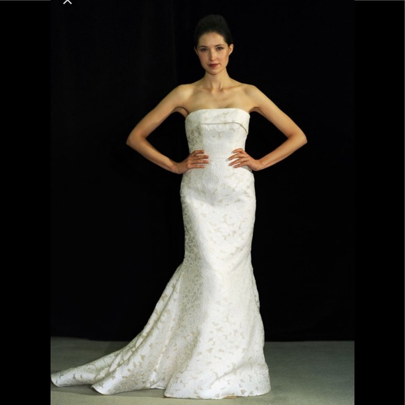 anne barge Dresses | Baccanale Silk Mermaid Wedding Dress | Poshmark